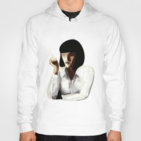 mia wallace Hoodies featuring Mia Wallace by Clotilde Petit