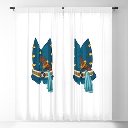 Halloween Pirate Costume Wolf Dagger Blackout Curtain