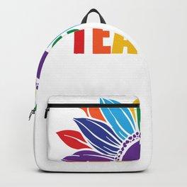 Pride Rainbow Sunflower Teacher Gay Teacher Lesbian Teacher LGBT Backpack