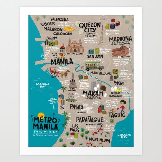 Metro Manila, Philippines Art Print