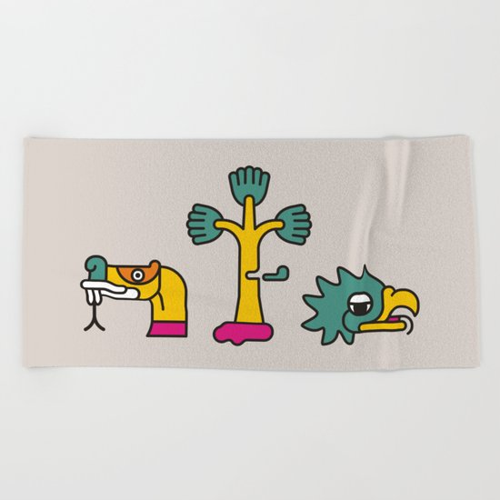 Aztec Glyphs ~3 Beach Towel