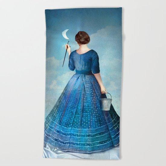 Nachtmalerei Beach Towel
