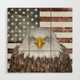 American Bald Eagle Patriot Wood Wall Art