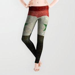 National flag of Syria - vintage Leggings