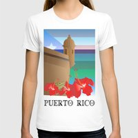 puerto rico T-shirts featuring Puerto Rico by PADMA DESIGNS PR