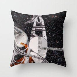 Intersecting Paths Throw Pillow