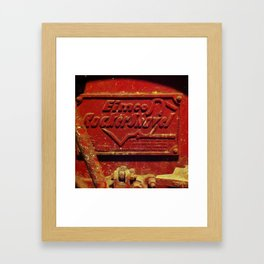 Heavy, red metal Framed Art Print