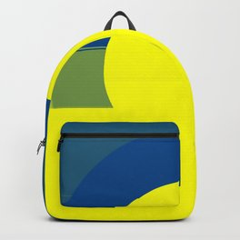 Maize & Blue Sun Abstract 1 Backpack