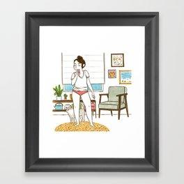 Duckface Framed Art Print