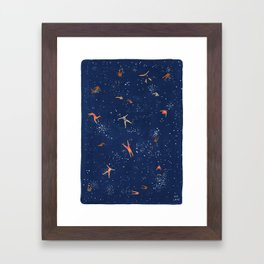 Sky Swim Framed Art Print