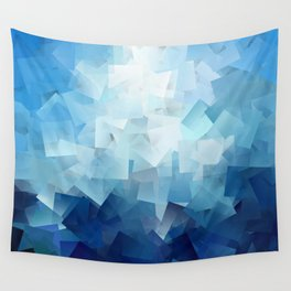 Blue Landscape Wall Tapestry