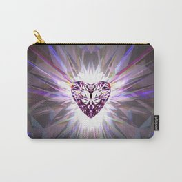 Heart Crystal Refraction - Pink Carry-All Pouch