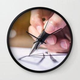 Hand drawing art Wall Clock