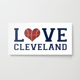 Love Cavs Metal Print
