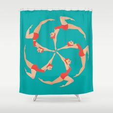 Synchronized Swimmers Shower Curtain