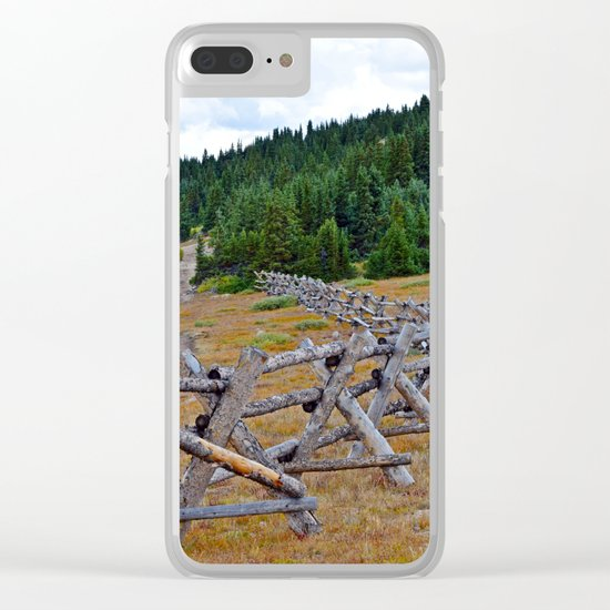 Fenceline in the fall Clear iPhone Case
