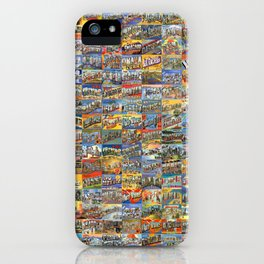Greetings From Postcards iPhone Case