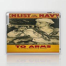 Vintage poster - Enlist in the Navy Laptop & iPad Skin