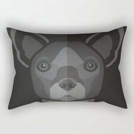 Coco- Chihuahua Pet Design in Bold and Modern Colors for Pet Lovers Rectangular Pillow