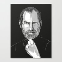 steve jobs Canvas Prints featuring Steve Jobs by 1and9
