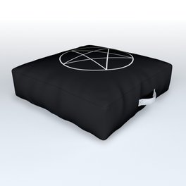 White Pentacle Outdoor Floor Cushion
