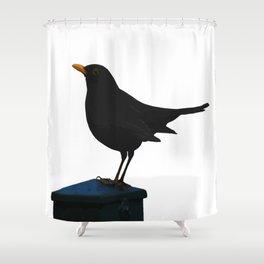 Blackbird Vector Shower Curtain