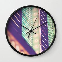 Turquoise Neon Wall Clock