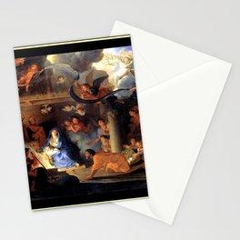 Le brun Adorationof the Shepherds 1689 – natividad,nativité, christ,gospel. Stationery Cards
