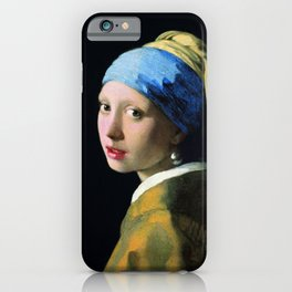 Jan Vermeer Girl With A Pearl Earring iPhone Case