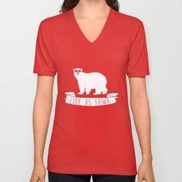 Funny Cool as Fawk Polar Bear Unisex V-Neck