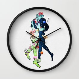 Nature hold universe. Wall Clock