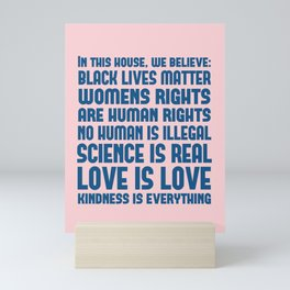 House Rules Democrat Print - Pink and Blue Mini Art Print