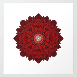 Ornamental round flower decorative element Art Print