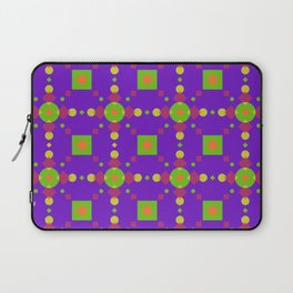 Neon Bus Seat Seamless Pattern Laptop Sleeve