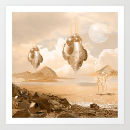 Mission on a far planet Art Print