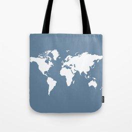 French Gray Elegant World Tote Bag