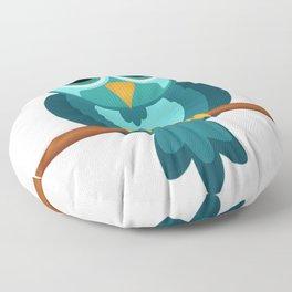 Blue Chibi Owl Floor Pillow