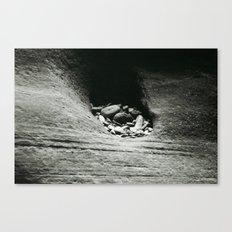 Rocks left after errosion Canvas Print