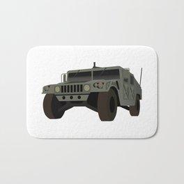 HUMVEE Army Military Truck Bath Mat