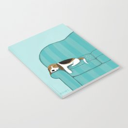 Happy Couch Beagle Notebook