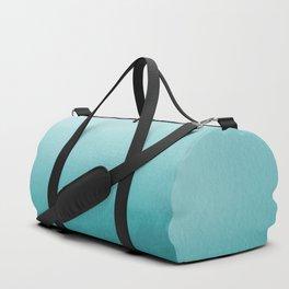 Aqua Teal Turquoise Watercolor Ombre Gradient Blend Abstract Art - Aquarium SW 6767 Duffle Bag