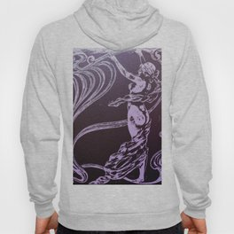 Art nouveau, purple,lavender,naked lady Hoody