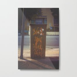 Wish You Were Here [Los Angeles] Metal Print