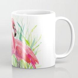 Flamingos, two flamingo birds, pink green art Coffee Mug