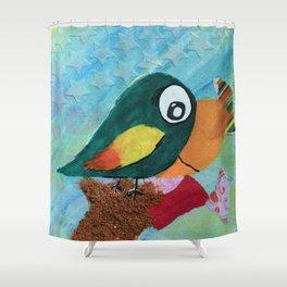 Sven - Quirky Bird Shower Curtain