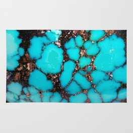 Macro Turquoise Rug