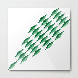 Green Diamonds by FreddiJr Metal Print