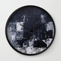 "skyline Wall Clocks featuring ""Skyline"" by Prima Haven"