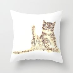 Cheeky Kitty Cat Throw Pillow