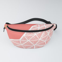 Coral Ethnic Abstract Fanny Pack